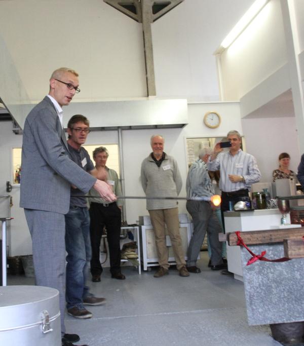 Mark Hill declares the studio open.