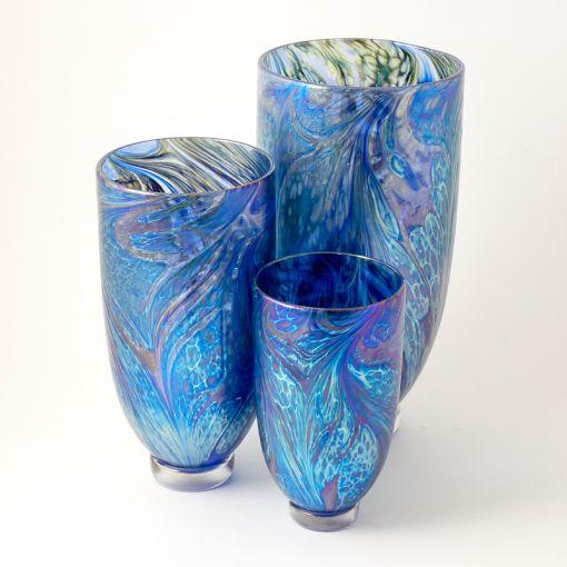 Blue Vine Vases